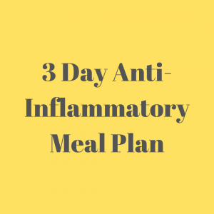 3 Day Anti Inflammatory Meal Plan