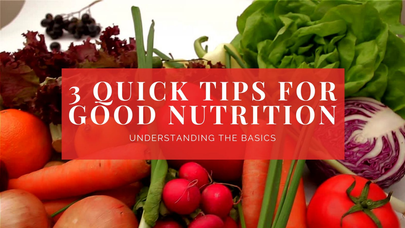 3 tips for healthy eating